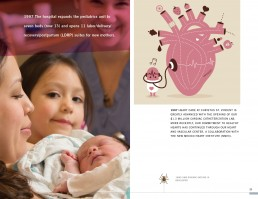 Graphic Design Annual Report Hospital