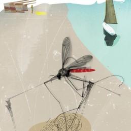 Zika Florida Editorial Illustration