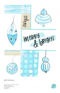 MERRY AND BRIGHT MOTIF